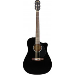 Fender CD-60SCE DREAD BLACK WN Электроакустическая гитара