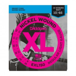 D'Addario EXL150 Regular Light Струны для 12-ти струнной электрогитары